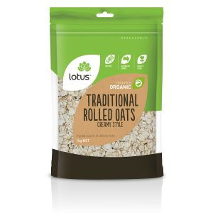 Oats Rolled Traditional Creamy Style Organic